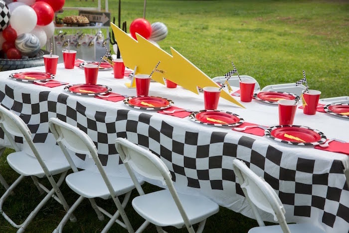 Karas Party Ideas Lightning McQueen KaChow Birthday Party Karas