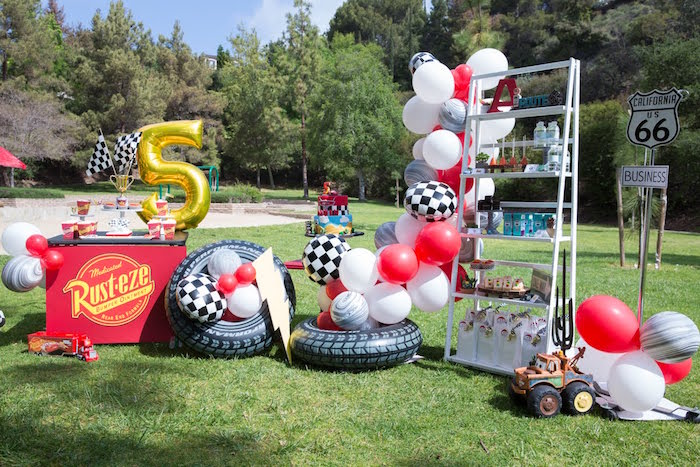Karas Party Ideas Lightning McQueen KaChow Birthday Party Karas