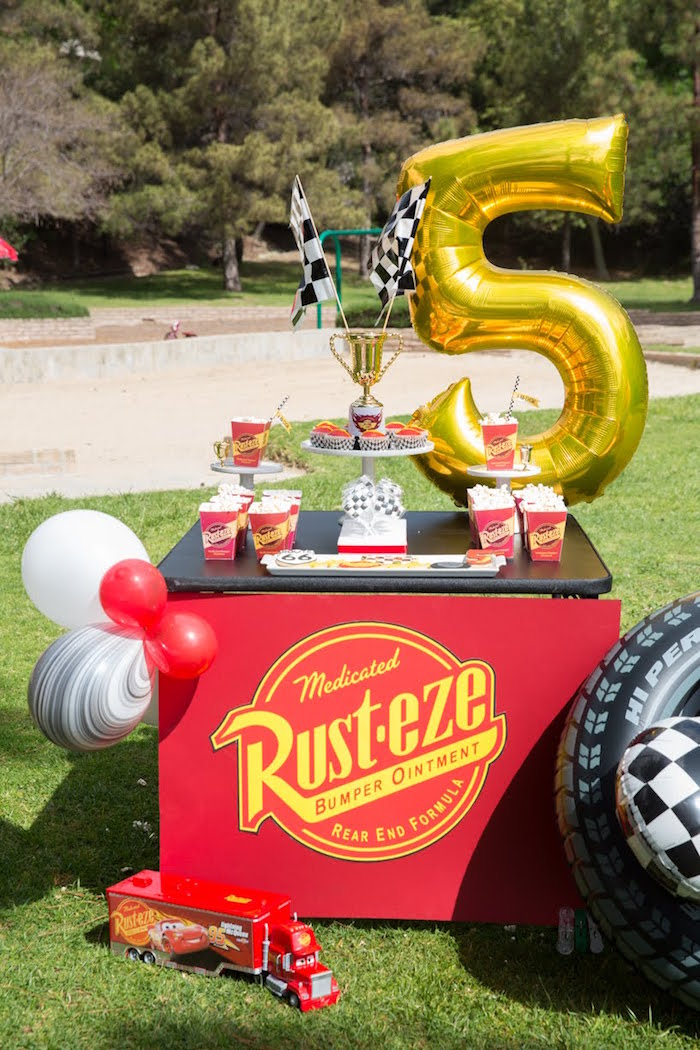 Kara S Party Ideas Lightning Mcqueen Ka Chow Birthday