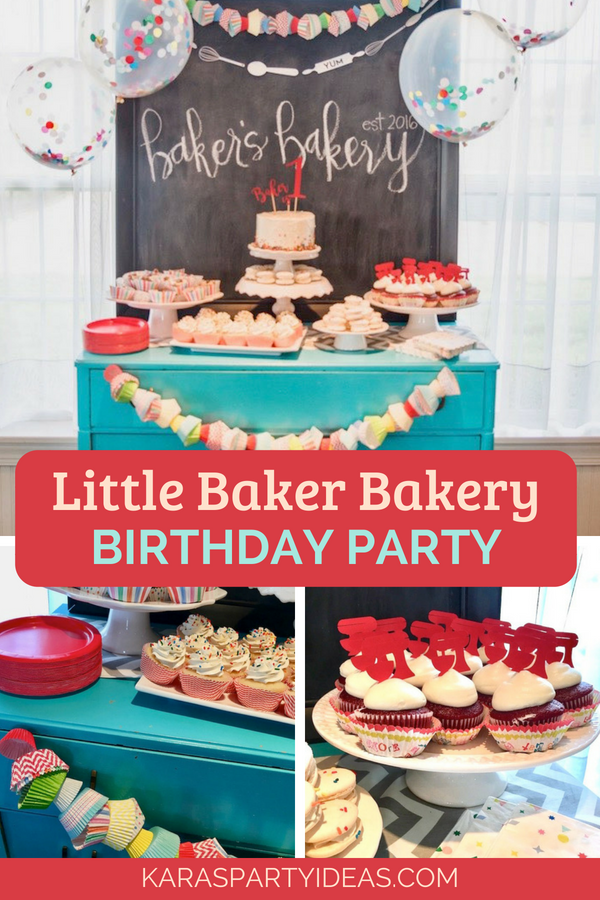 Little Baker Bakery Birthday Party via KarasPartyIdeas - KarasPartyIdeas.com