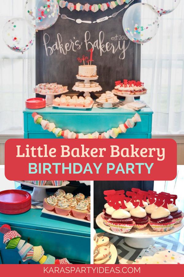 Little Baker Bakery Birthday Party Via KarasPartyIdeas