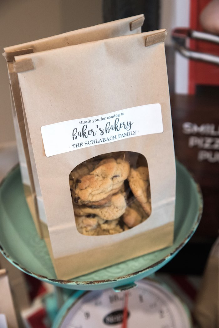 Cookie Favors from a Little Baker Birthday Party on Kara's Party Ideas | KarasPartyIdeas.com (10)