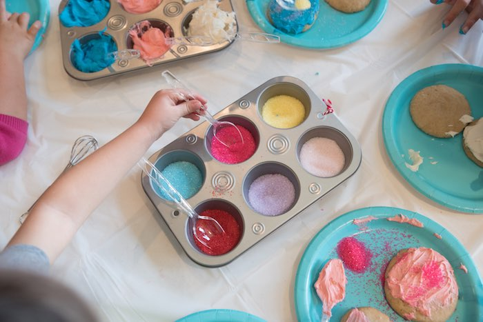 Cookie Decorating from a Little Baker Birthday Party on Kara's Party Ideas | KarasPartyIdeas.com (5)