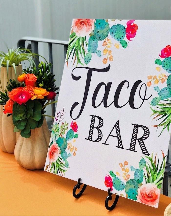 Taco Bar Print from a Llama Fiesta Birthday Party on Kara's Party Ideas | KarasPartyIdeas.com (17)