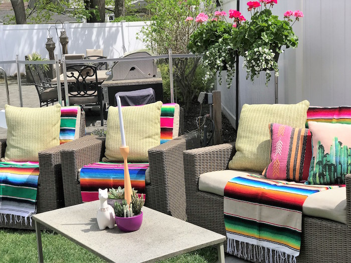 Fiesta Lounge from a Llama Fiesta Birthday Party on Kara's Party Ideas | KarasPartyIdeas.com (30)