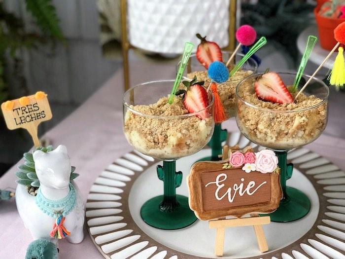 Cactus Dessert Cups from a Llama Fiesta Birthday Party on Kara's Party Ideas | KarasPartyIdeas.com (8)