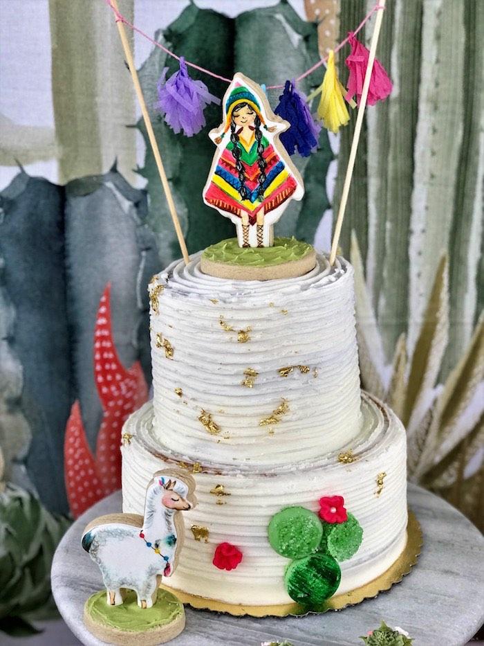 Fiesta Cake from a Llama Fiesta Birthday Party on Kara's Party Ideas | KarasPartyIdeas.com (6)