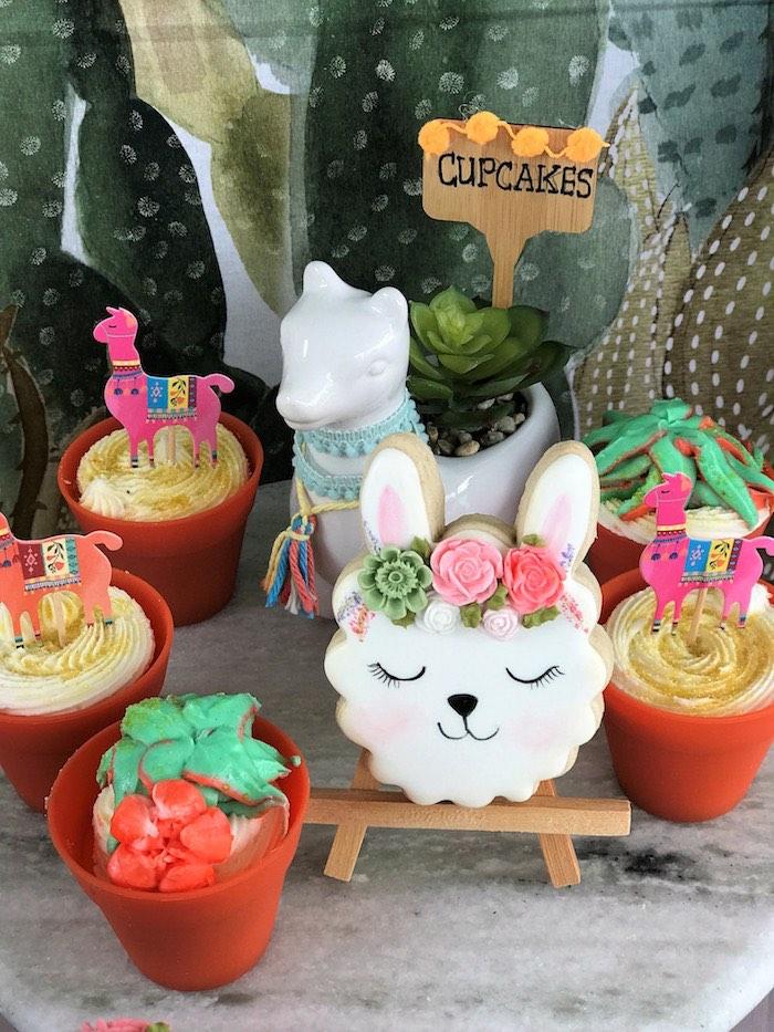 Terra Cotta Cupcakes from a Llama Fiesta Birthday Party on Kara's Party Ideas | KarasPartyIdeas.com (25)