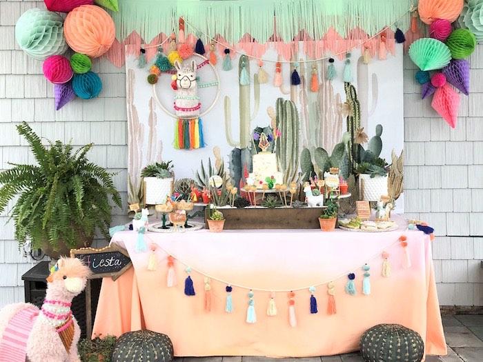 Llama Fiesta Birthday Party on Kara's Party Ideas | KarasPartyIdeas.com (23)