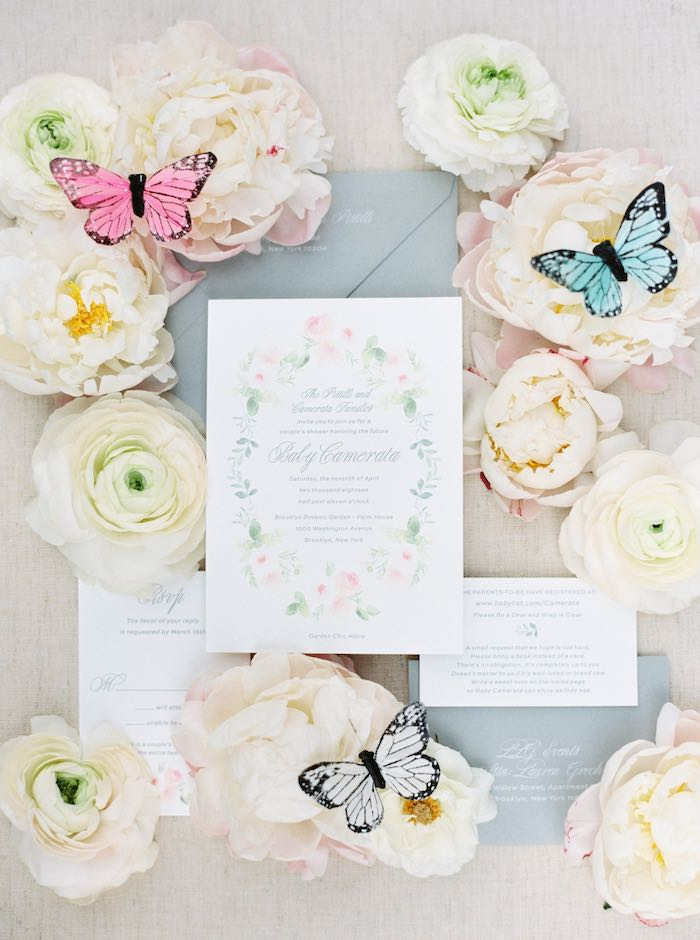 Garden Party Signage + Invite from a Luxury Baby Shower on Kara's Party Ideas | KarasPartyIdeas.com (61)