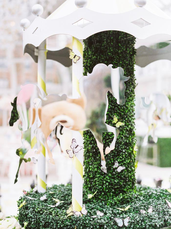 Carousel Garden Table + Mirror Pony from a Luxury Baby Shower on Kara's Party Ideas   KarasPartyIdeas.com (59)
