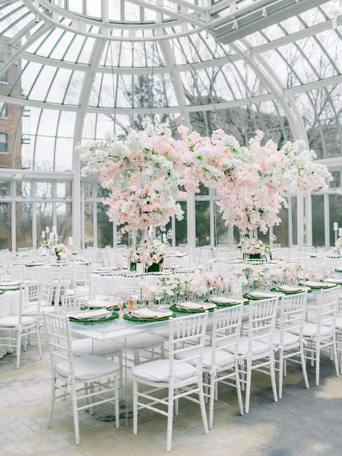 Spring Blossom Guest Table from a Luxury Baby Shower on Kara's Party Ideas | KarasPartyIdeas.com (71)