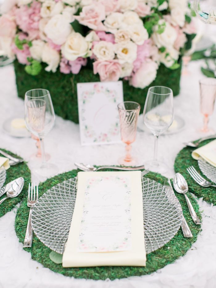 Garden Table Setting from a Luxury Baby Shower on Kara's Party Ideas | KarasPartyIdeas.com (52)
