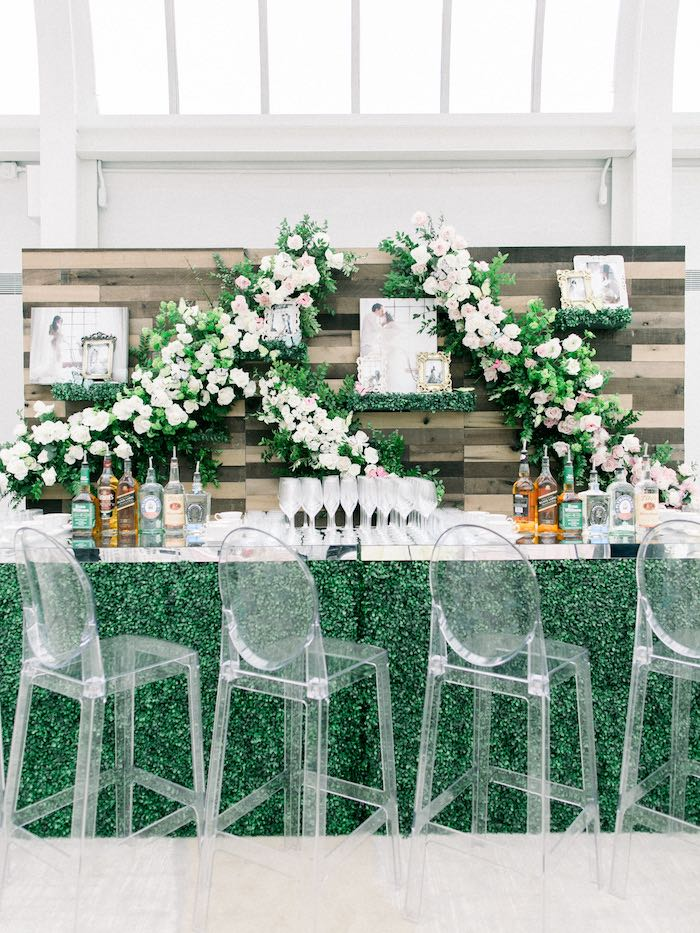 Rustic Bloom Bar from a Luxury Baby Shower on Kara's Party Ideas | KarasPartyIdeas.com (49)