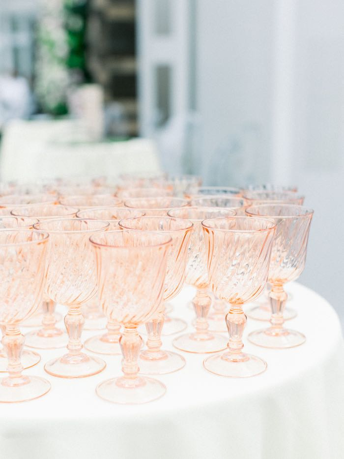 Blush Goblets from a Luxury Baby Shower on Kara's Party Ideas | KarasPartyIdeas.com (48)
