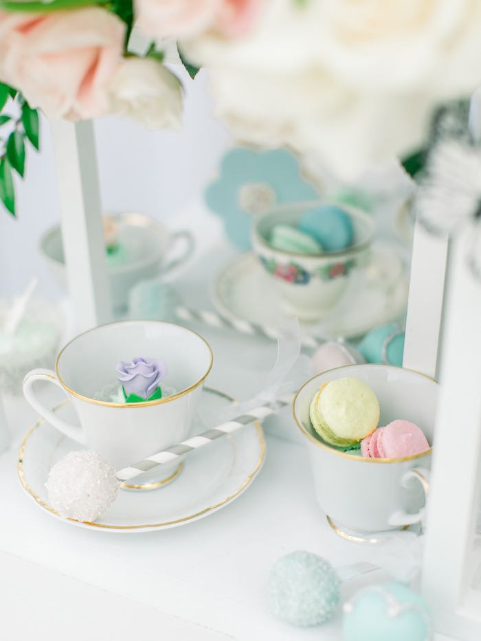 Tea Cup Sweets from a Luxury Baby Shower on Kara's Party Ideas   KarasPartyIdeas.com (45)