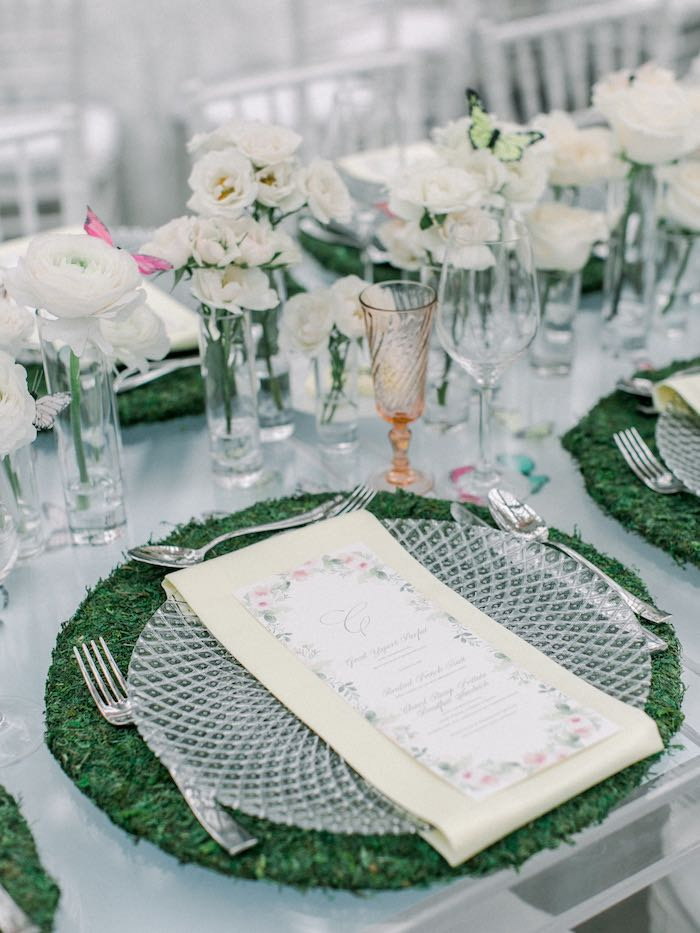 Spring Garden Table Setting from a Luxury Baby Shower on Kara's Party Ideas | KarasPartyIdeas.com (70)