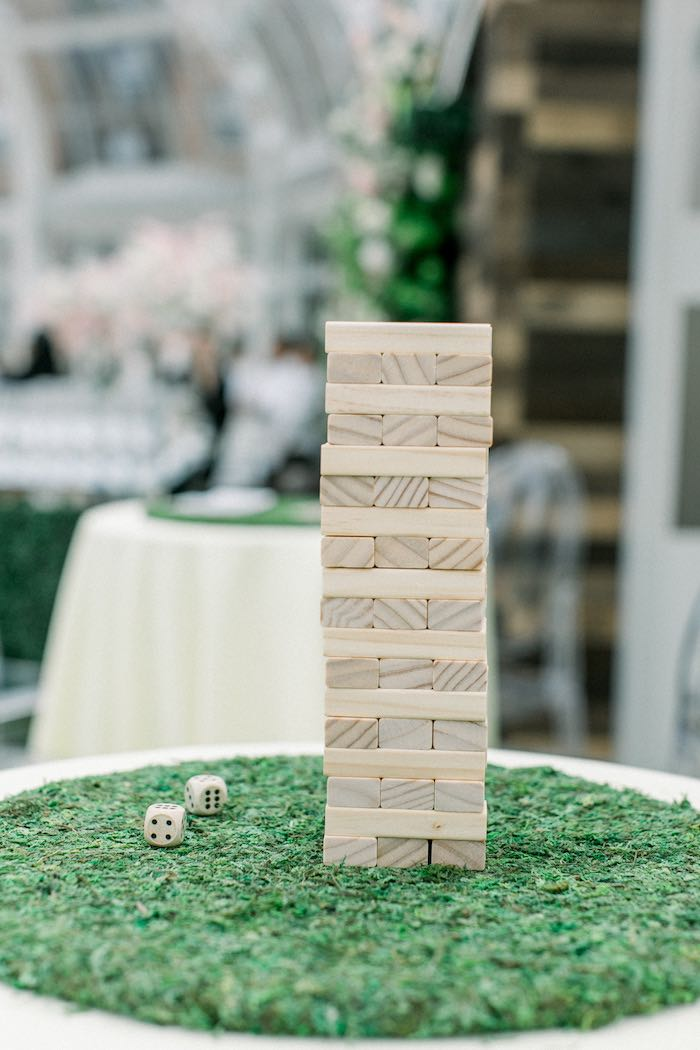 Game Table from a Luxury Baby Shower on Kara's Party Ideas | KarasPartyIdeas.com (30)
