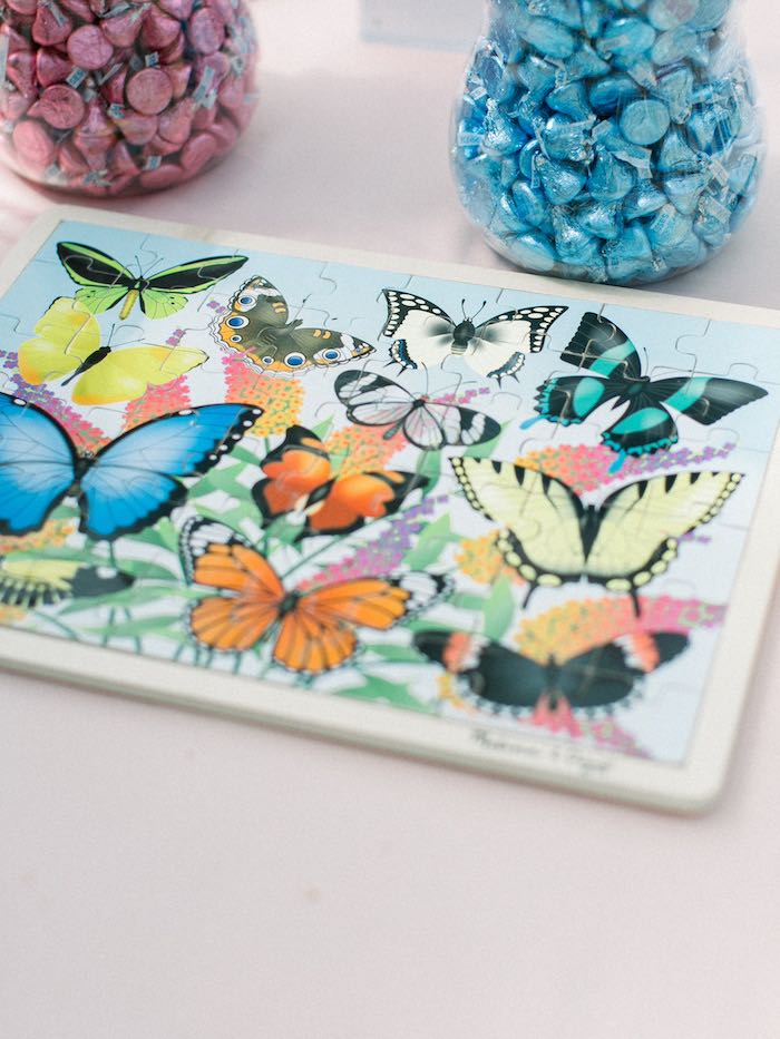 Butterfly Puzzle Activity from a Luxury Baby Shower on Kara's Party Ideas | KarasPartyIdeas.com (27)