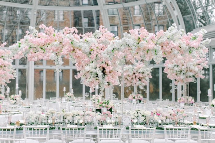 Spring Blossom Guest Tables from a Luxury Baby Shower on Kara's Party Ideas | KarasPartyIdeas.com (68)