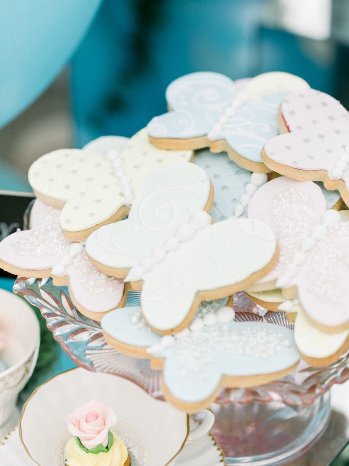 Butterfly Cookies from a Luxury Baby Shower on Kara's Party Ideas | KarasPartyIdeas.com (20)