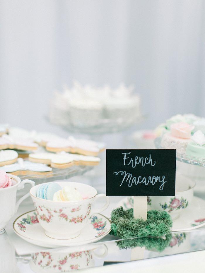Dessert Table from a Luxury Baby Shower on Kara's Party Ideas   KarasPartyIdeas.com (19)