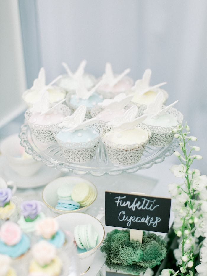 Butterfly Cupcakes from a Luxury Baby Shower on Kara's Party Ideas | KarasPartyIdeas.com (15)