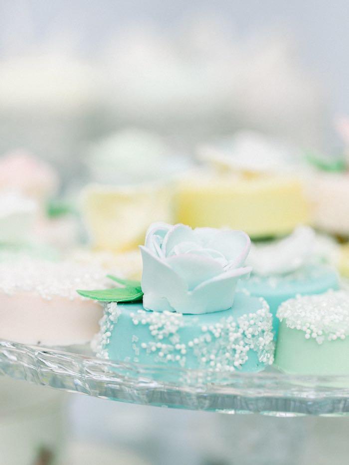 Flower Oreos from a Luxury Baby Shower on Kara's Party Ideas | KarasPartyIdeas.com (13)