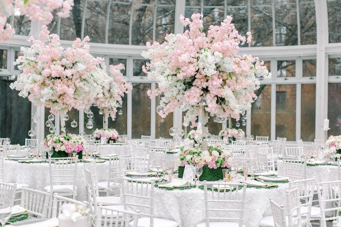Spring Blossom Guest Tables from a Luxury Baby Shower on Kara's Party Ideas | KarasPartyIdeas.com (67)