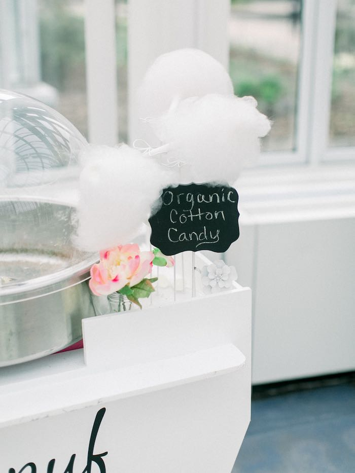 Organic Cotton Candy from a Luxury Baby Shower on Kara's Party Ideas   KarasPartyIdeas.com (9)
