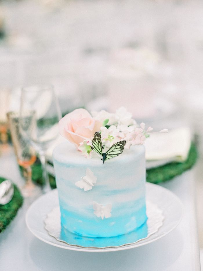 Floral Ombre Cake from a Luxury Baby Shower on Kara's Party Ideas   KarasPartyIdeas.com (7)
