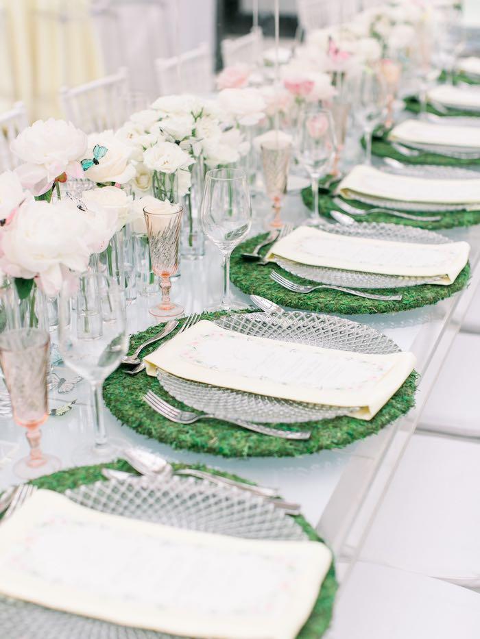 Garden Table Settings from a Luxury Baby Shower on Kara's Party Ideas | KarasPartyIdeas.com (65)