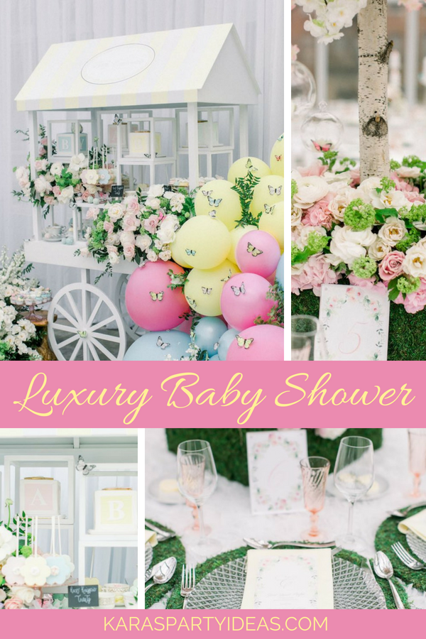 Luxury Baby Shower via KarasPartyIdeas - KarasPartyIdeas.com