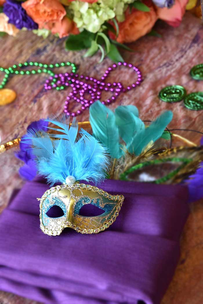 Masquerade Mask from a Mardi Gras 70th Birthday Party on Kara's Party Ideas | KarasPartyIdeas.com (11)
