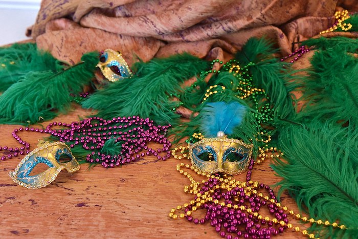 Mardi Gras Attire from a Mardi Gras 70th Birthday Party on Kara's Party Ideas | KarasPartyIdeas.com (7)