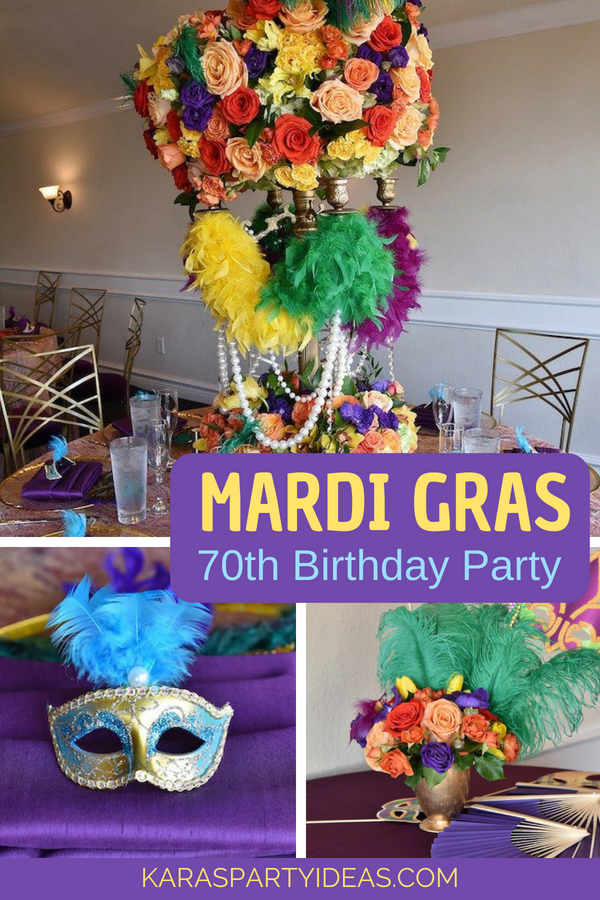 Mardi Gras 70th Birthday Party via KarasPartyIdeas - KarasPartyIdeas.com