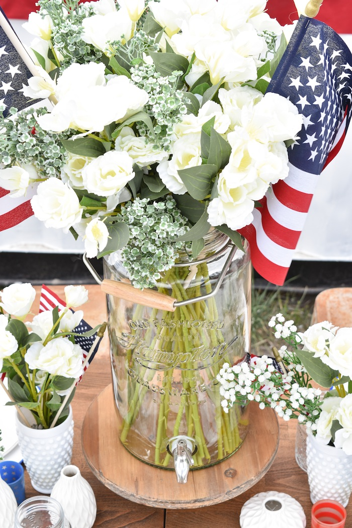 4th of July Backyard Party with Gladiator Upright Freezer and All Refrigerator- Memorial Day, Labor Day by Kara's Party Ideas