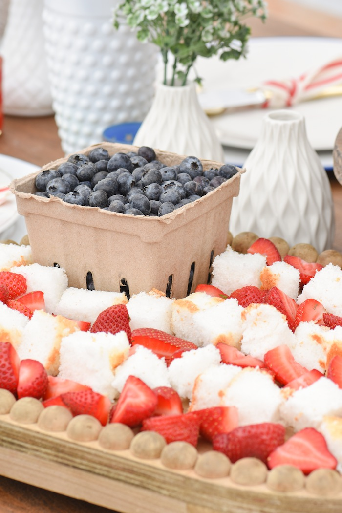 4th of July Fruit Tray Backyard Party with Gladiator Upright Freezer and All Refrigerator- Memorial Day, Labor Day by Kara's Party Ideas