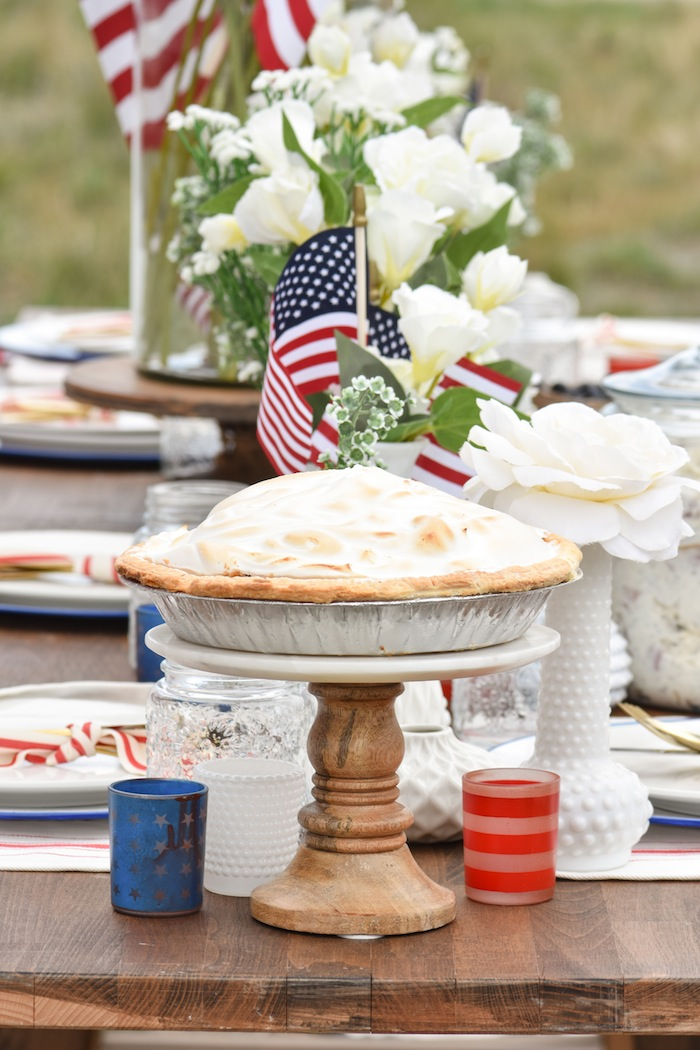 4th of July Pie Backyard Party with Gladiator Upright Freezer and All Refrigerator- Memorial Day, Labor Day by Kara's Party Ideas
