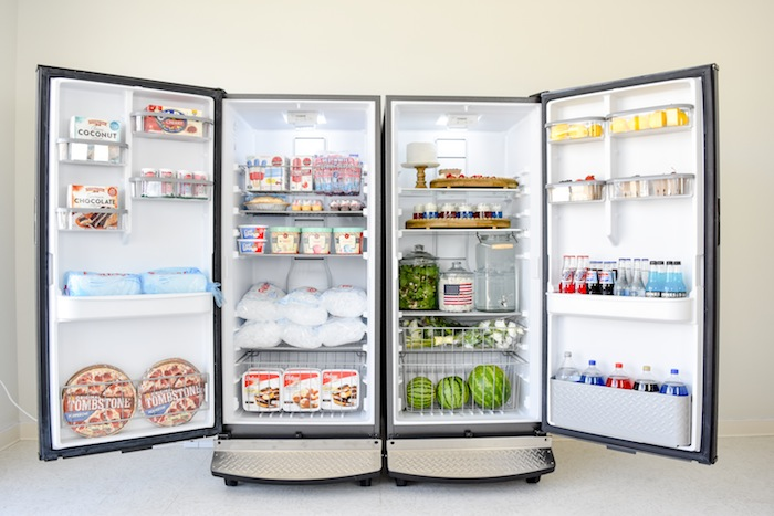 Party Planner Fridge and Freezer! Gladiator Upright Freezer and All Refrigerator by Kara's Party Ideas