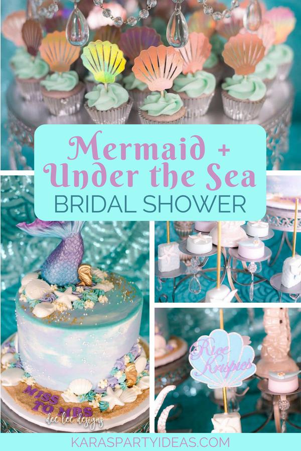 Kara S Party Ideas Mermaid Under The Sea Bridal Shower