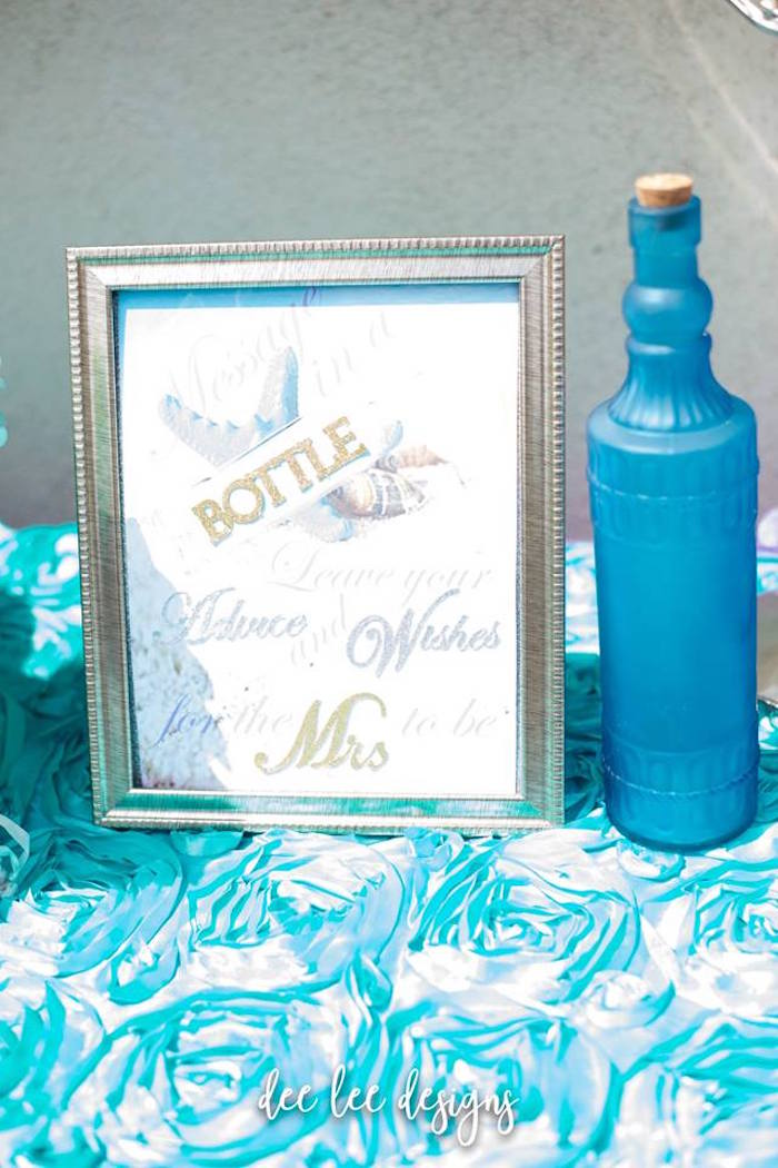 Bottle Wishes from a Mermaid + Under the Sea Bridal Shower on Kara's Party Ideas | KarasPartyIdeas.com (17)