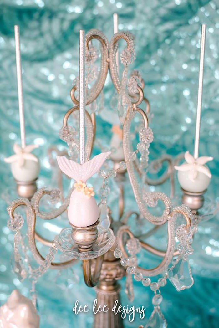 Candlestick Cakepop Pedestal from a Mermaid + Under the Sea Bridal Shower on Kara's Party Ideas | KarasPartyIdeas.com (15)