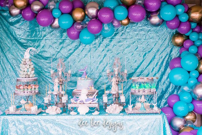 Mermaid + Under the Sea Bridal Shower on Kara's Party Ideas | KarasPartyIdeas.com (11)