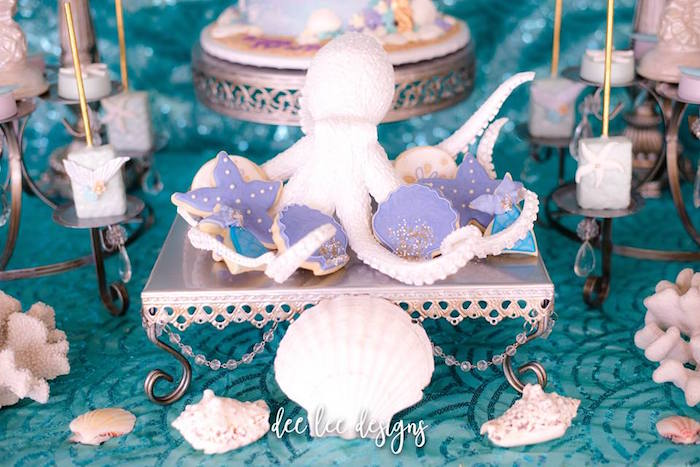 Under the Sea Cookies from a Mermaid + Under the Sea Bridal Shower on Kara's Party Ideas | KarasPartyIdeas.com (19)
