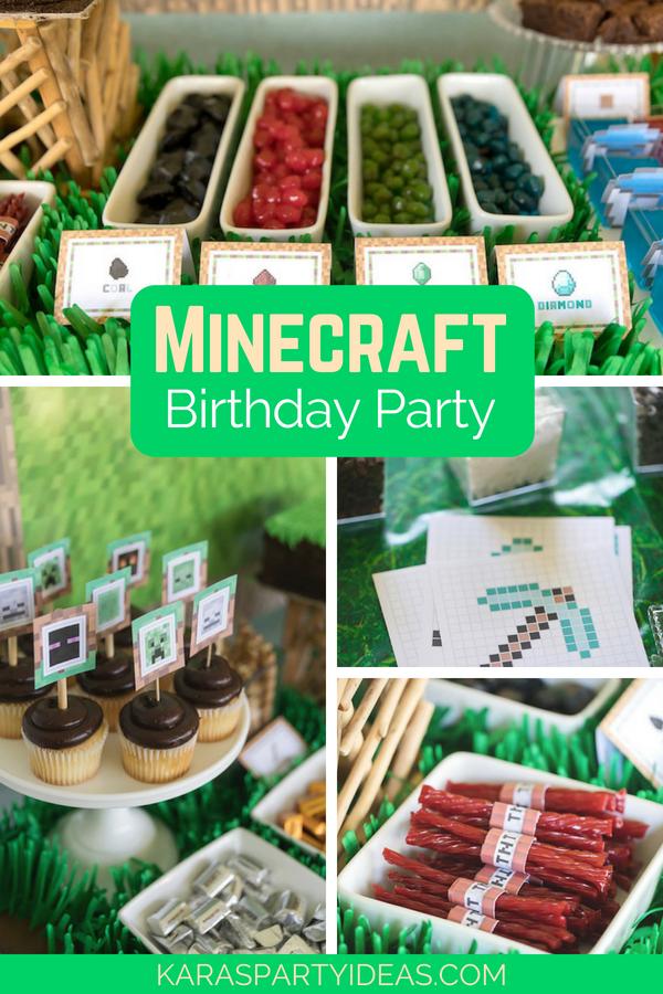 Minecraft Birthday Party via Kara_s Party Ideas - KarasPartyIdeas.com.png