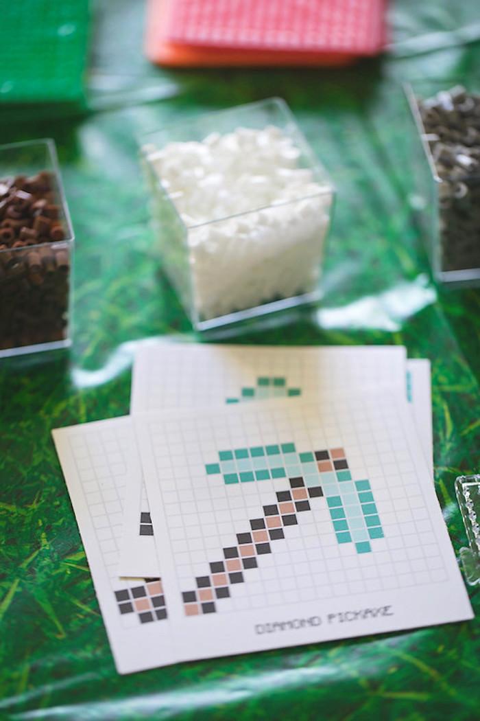 Minecraft Perler Bead Templates from a Minecraft Birthday Party on Kara's Party Ideas | KarasPartyIdeas.com (3)
