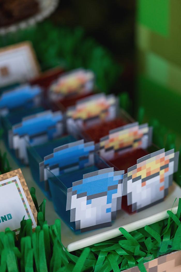 Potion Jello Cups from a Minecraft Birthday Party on Kara's Party Ideas | KarasPartyIdeas.com (12)