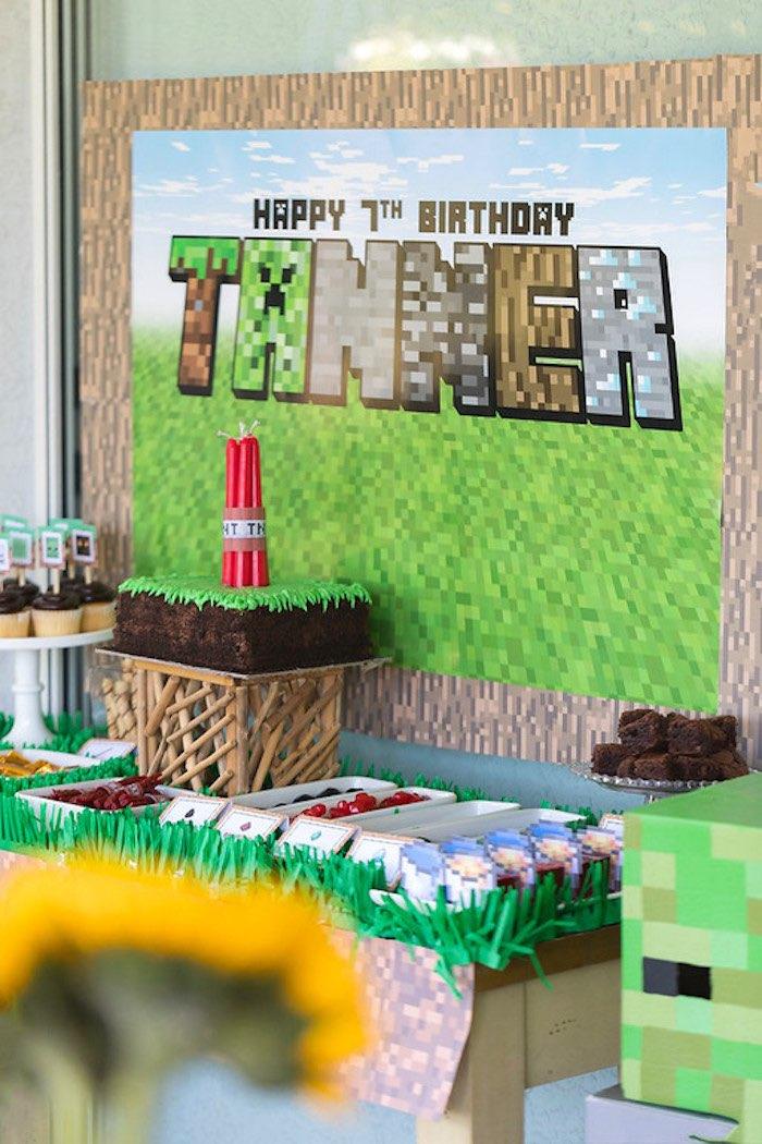 Minecraft Birthday Party on Kara's Party Ideas | KarasPartyIdeas.com (8)