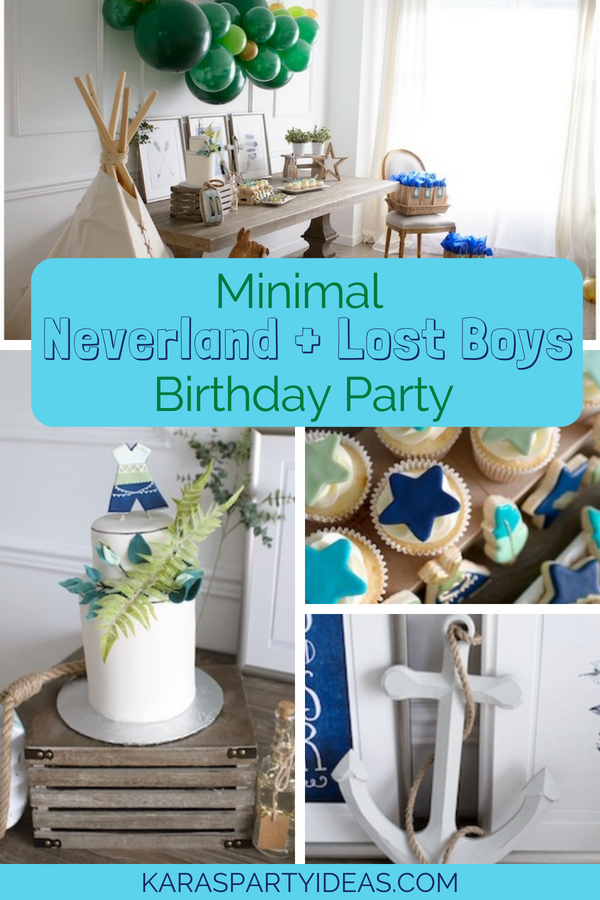 Minimal Neverland + Lost Boys Birthday Party via Kara_s Party Ideas - KarasPartyIdeas.com.png